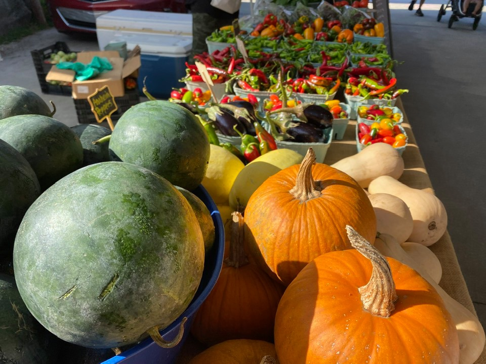 Farmers Market runs until Oct 30th, with special holiday markets on Nov. 20th and Dec. 4th
