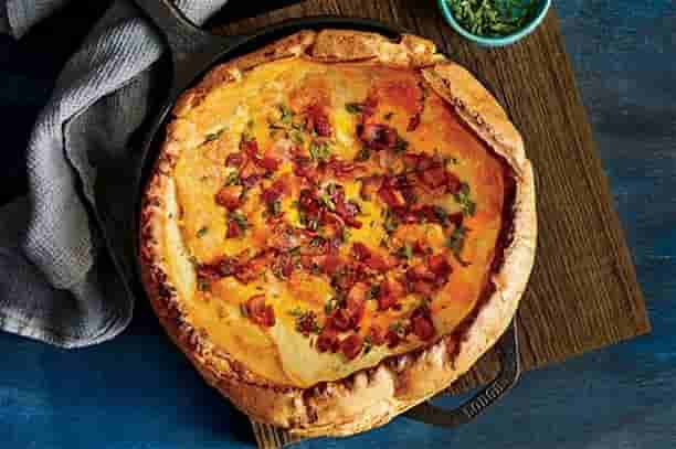 Dutch Baby with Bacon and Cheese