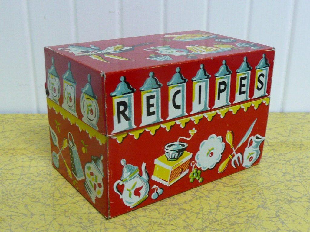 old time recipe box