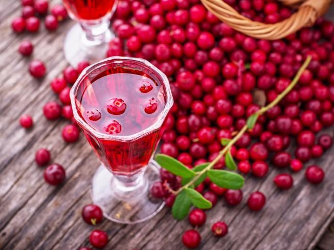 The festive cranberry liquer